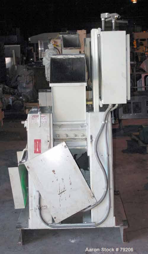 """USED: Foremost grinder, model 3E1. 12"""" wide, 4 bolt-on blade openrotor. 2 bed knives, pelican feed hopper, approx 1/8"""" diame..."""