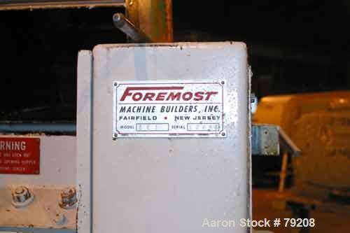 """Used- Foremost Grinder, Model 3E1. 12"""" wide 4 bolt-on blade open rotor, 2 bed knives, pelican feed, approximate 1/8"""" diamete..."""
