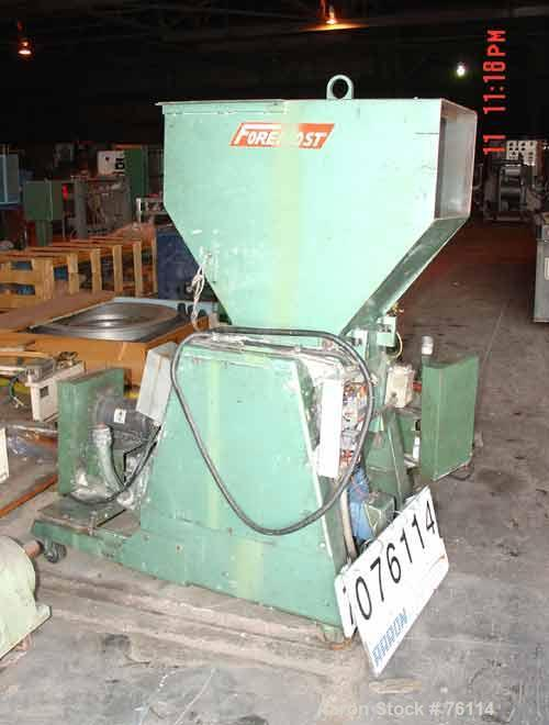 USED: Foremost model HD-6 granulator. 20 hp motor, 230/460 volt, 3/60. 14 x 18 feed throat. 2 hp blower discharge. Includes ...