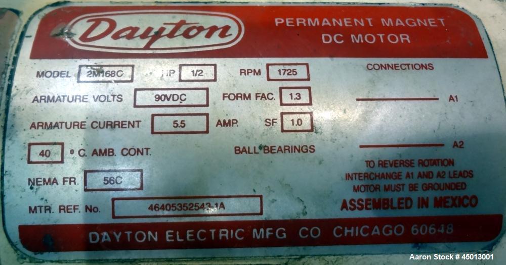 Used- Foremost Machine High Shear Granulator System