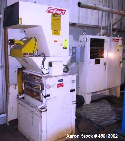 Used- 30HP Foremost HSFG-1124 Trim Grinder with pull rolls, trim cyclone and 5hp discharge blower and controls