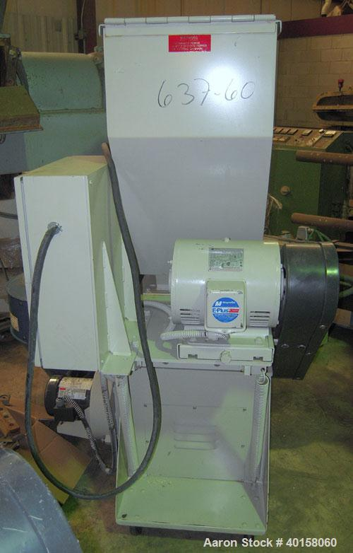 "Used- Nelmore Granulator, model G1012FX. 10"" X 12"" feed throat with standard tray feed hopper. Includes 7.5 hp belt driven m..."
