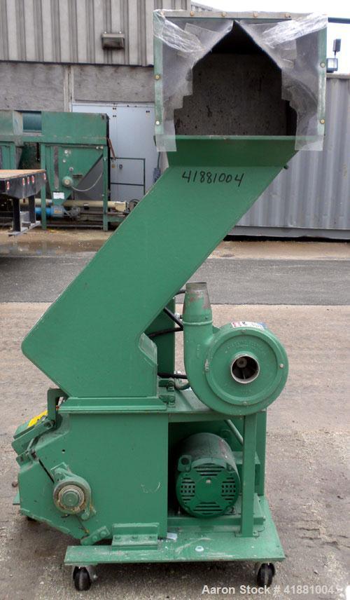 "Used- Granutec Granulator, Model 1212LPZ-10. Approximate 10"" diameter x 12"" long open rotor with 3 bolt on blades. Tilt back..."
