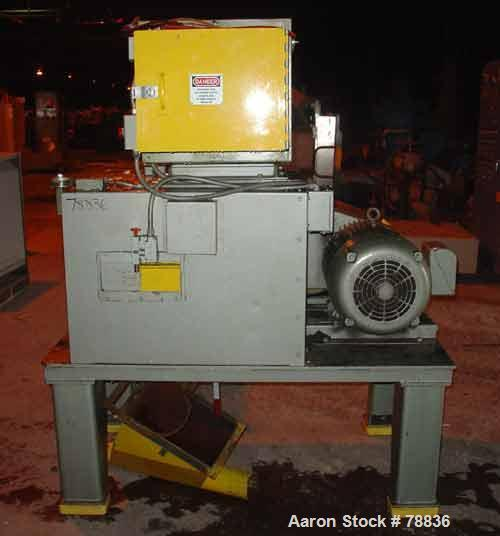 "USED: Granutec granulator, model TFG1616.4. Open rotor, 3 bolt-onknives 16"" long x 4"" wide, 1/4"" screen holes, 12"" x 16"" sid..."