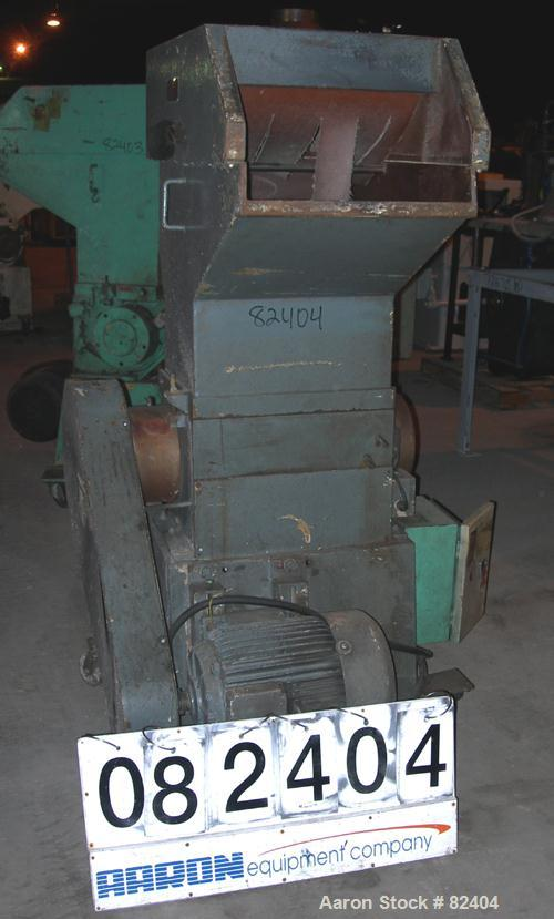 """USED: Hamilton/Tria grinder, model 46-25-TD. Approximately 10"""" diameter x 18"""" wide 6 bolt-on staggered blades, open rotor, (..."""