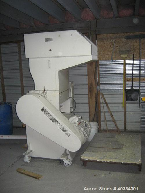 "Used-Hamilton/Tria Grinder, model 60-35TD. Approximate 12"" diameter x 24"" wide 3 bolt on blade open rotor, (2) bed knives. T..."