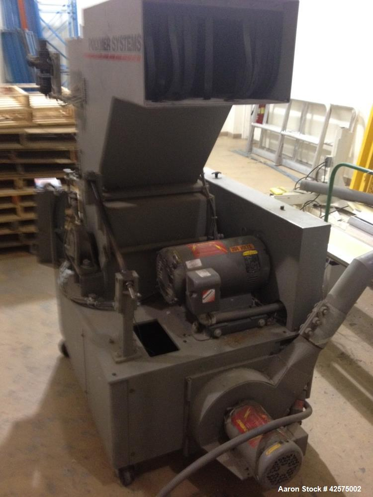 "Used- Hosokawa Polymer Systems Feed Roll Granulator, Model 1120SPL. 20 hp, 208v/3ph/60Hz. 3/16"" or 1/8"" screen. Feed roll as..."