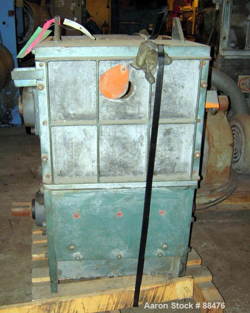 """Used- Hydro Claim High-Bulk-Density Dual Rotor Plastic Film Grinder, Model HBD. Approximately 12"""" x 18"""" feed opening. Stacke..."""