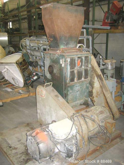 """USED: Hydro Claim dual chamber film grinder with approximately 12"""" x 18"""" primary feed. Driven by a 40 hp motor."""