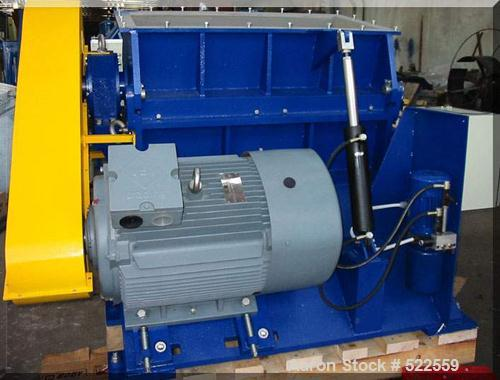 Unused-NEW/UNUSED: Kompass granulator, type 800/1600. Material of construction is carbon steel on product contact parts. 31....