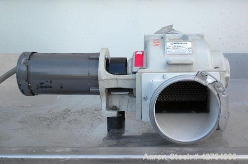 Used- Kongsklide Inline Granulator, Model KG 3000 F6, Carbon Steel/Aluminum. Approximate 5'' diameter x 8'' wide open rotor ...