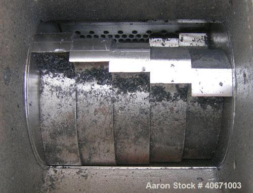 """Used- Conair/Wortex Granulator, model  LP-330.  Approximate 6"""" diameter x 7"""" long segmented helical type rotor with 3 rows o..."""