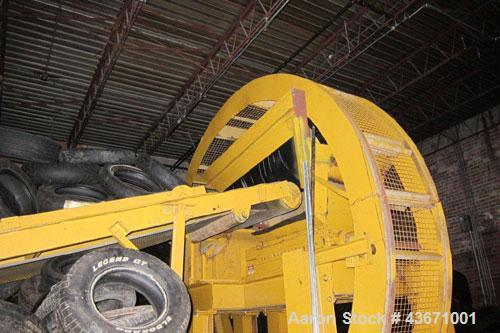 Used-Marathon Dual Rotor Shredder, Model 4220, Serial 121326. Baldor 60 hp electric motor.  Includes conveyor and Trommel sc...