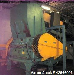 Used-Condux granulator Model CS 800 / 2000 lll A, 800 mm x 2000 mm rotor, (12) knife open rotor, scissor cut, belt driven wi...