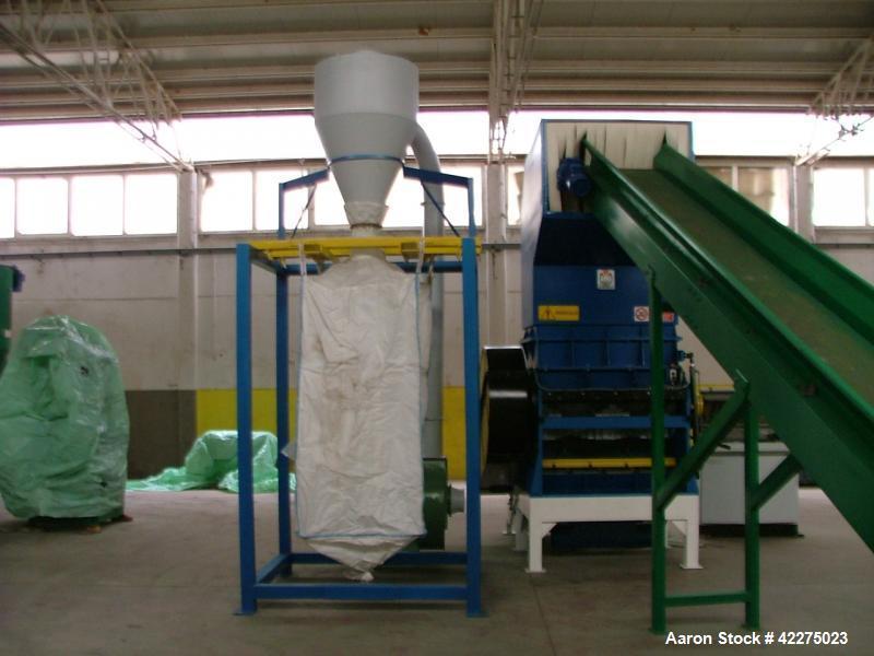 Used-Molinar 1200 Grinder.  Output capacity 1200 kg/h.  Comprised of (1) conveyor belt 7000 x 600 mm, 1200 mm long.  (1) Gri...