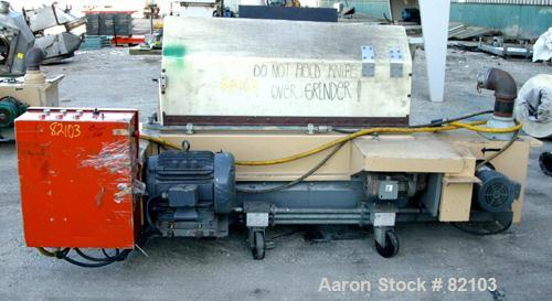 """USED: MPG Under the Press Granulator, model U55. 6"""" x 55"""" long feed with a tilting hopper, (2) feed rollers driven by a 1 hp..."""