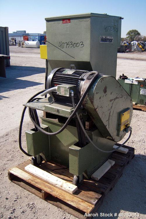 "Used- Nelmore Granulator, Model G1220M1. Approximately 12"" diameter x 19 1/2"" wide 3 bolt-on blade open rotor. Tilt back pel..."