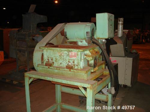 "Used- Nelmore Granulator, Model G1220M1. Approximately 12"" diameter x 19 1/2"" wide 3 bolt-on blade closed rotor. Bolt on fee..."