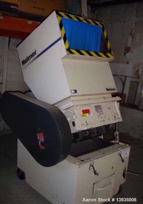 "Used-1997 Nelmore Model G1224P1. Throat opening size 12"" x 24"", 3 blade open rotor, 2 bed knives, bottom cast bin, 20 hp."