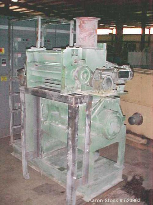 "Used- Nelmore Granulator, Model G1424M. Driven by a 75 hp, 460 volt motor. Has cyclone style feed hopper. Includes a 24"" wid..."