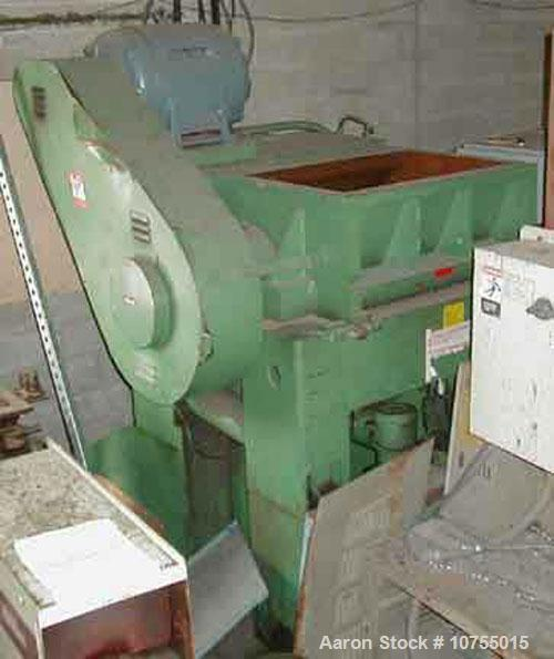 "Used-Nelmor model G2436M1. 24"" x 36"" feed throat, 3 knife solid rotor, 2 bed knife, 75 hp, 460 volt motor, conveyor feed hop..."