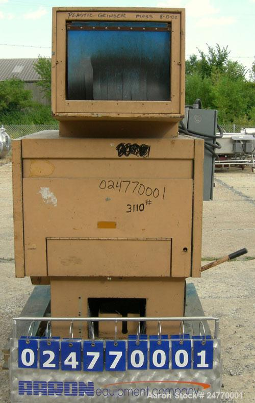 "Used- Nelmore Granulator, Model RG1220M1. Approximately 12"" diameter x 20"" wide 3 bolt-on blade closed rotor, (2) bed knives..."