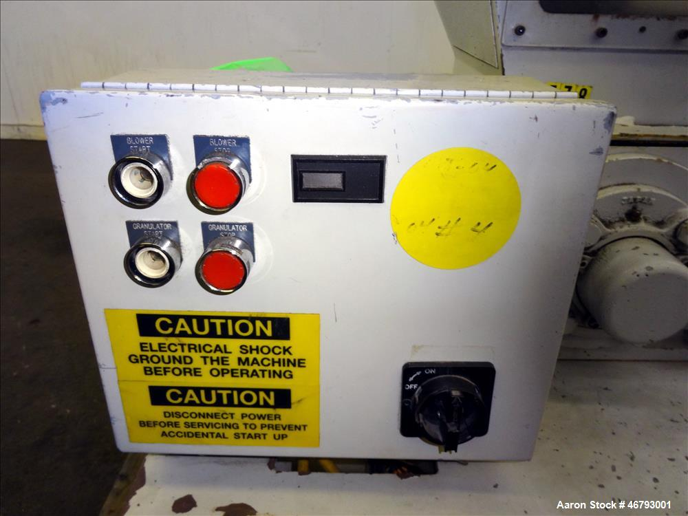 Used- Nissui Corp Granulator, Carbon Steel.