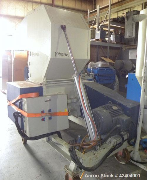 Used- Chi Chang Machinery Granulator, Model CC/SC-30. Segmented helical type closed rotor with 3 rows of 3 bolt on blades. 1...
