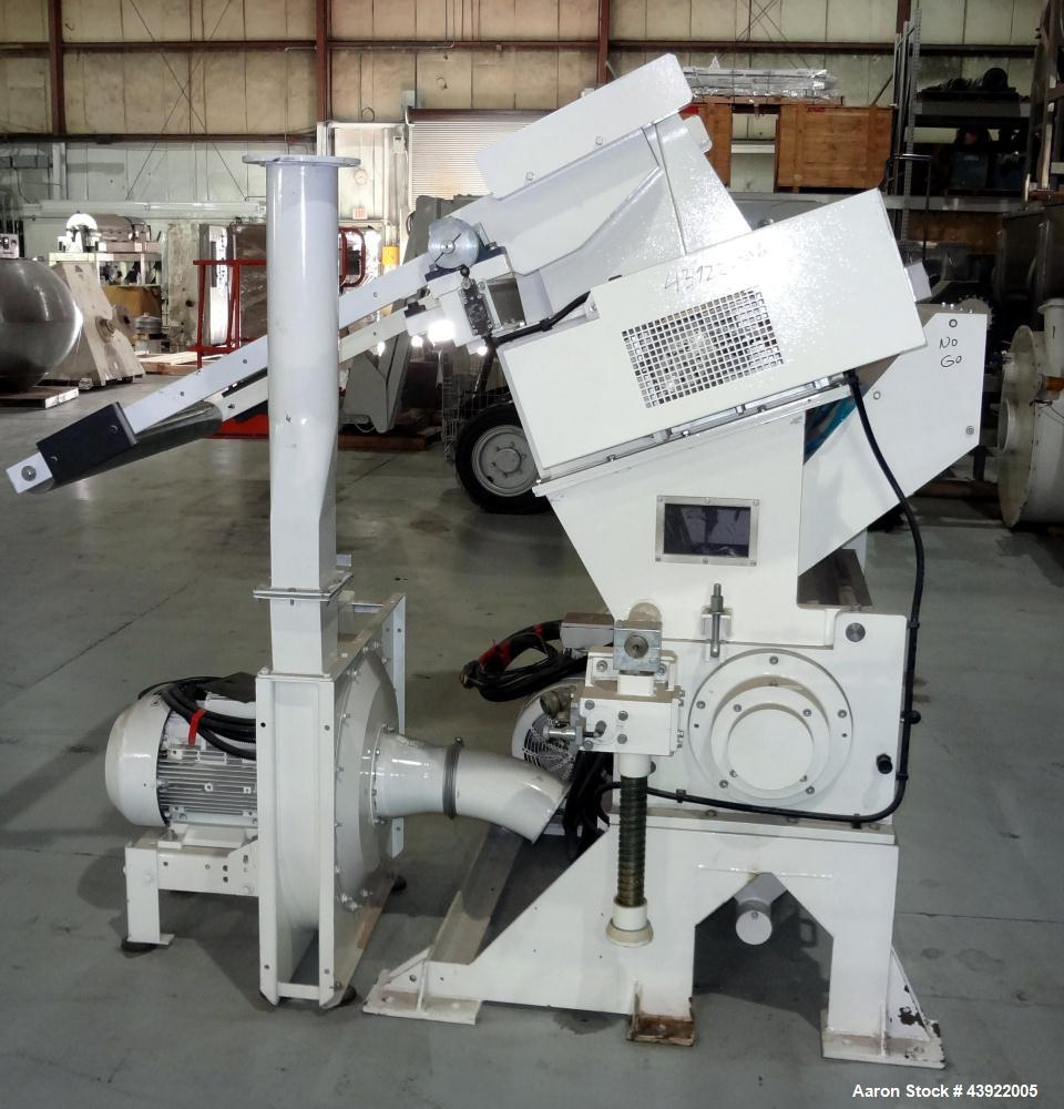 "Used- OMV (TRIA) Granulator, Built 2004. Model TR900. Approximate 12"" diameter x 38"" wide two roll feed. Driven by a 1.1 KW ..."