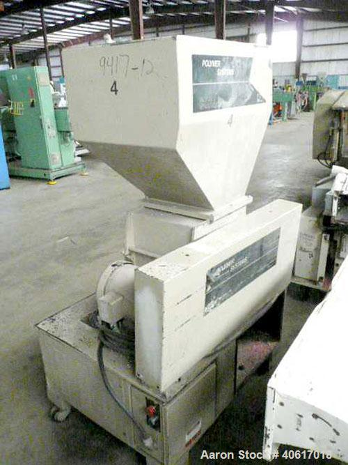 "Used- Polymer Systems Granulator, model 1116. 11"" x 16"" feed throat. Rotor belt driven by a 10 hp motor. Set up for airveyor..."