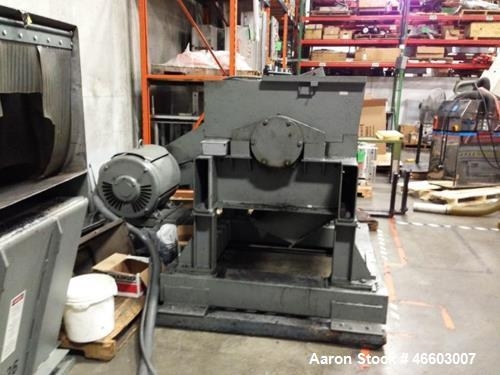"""Used- Polymer Systems 2040 Granulator. Throat size opening: 20"""" x 40"""". 3 rotor knives, 4 bed knives. 150 HP motor. Screen si..."""