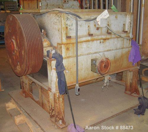 """Used- Polymer Machinery Granulator, Model 2040. 3-knife open rotor. 20"""" x 40"""" feed throat with hopper. Requires an approxima..."""