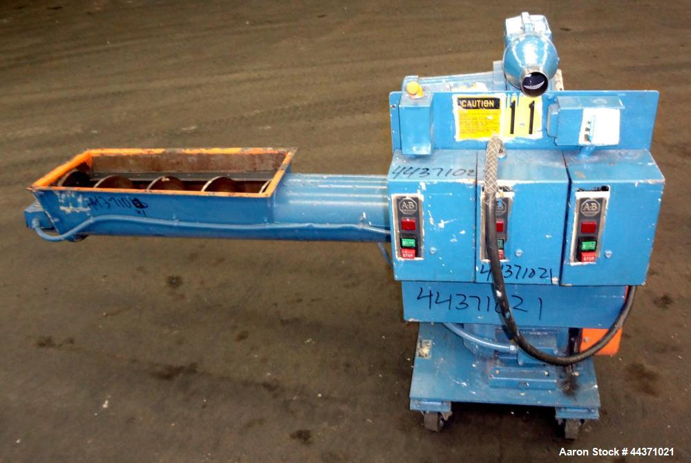 Used- Carbon Steel Polymer Machinery Under The Press Granulator, Model AG 10 X 10