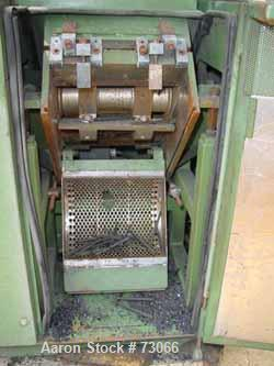"USED: Rapid granulator, model 1012-K. 10"" diameter x 12"" wide 3 bolt on slanted blade open rotor. 2 bed knives. Pelican styl..."