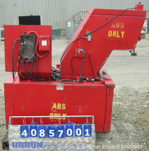 "Used- Rapid Granulator, Model 1224K. Approximately 12"" diameter x 24"" wide, 3 rows of 2 bolt on slanted blade open rotors. T..."