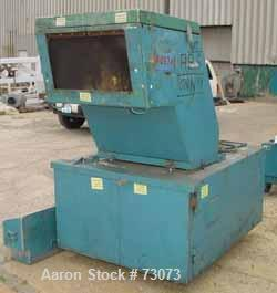 "Used- Rapid Granulator, Model 1224KU. 12"" Diameter x 24"" wide 3 bolt on slanted blade open rotor, 2 bed knives. Pelican styl..."