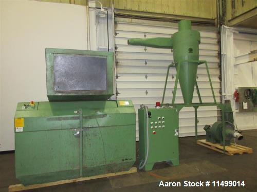 "Used- 24"" x 36"" Rapid Granulator, Model 2436C. 2000 Vintage. Reliance 100HP AC Motor, open rotor configuration with 3 fly kn..."