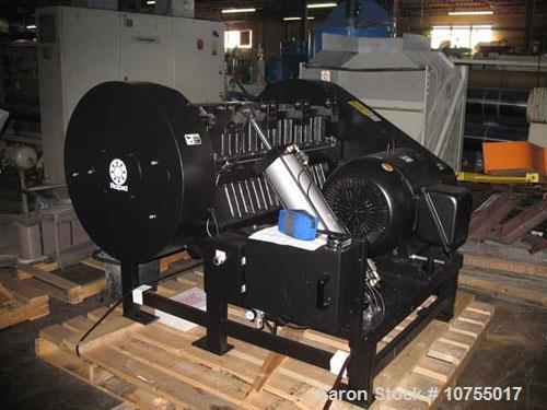 "Used-Rapid model 2442 RS granulator. 24"" x 42"" feed throat, 20 knife staggered hog rotor, 3 bed knife, 100 hp, 460 volt moto..."