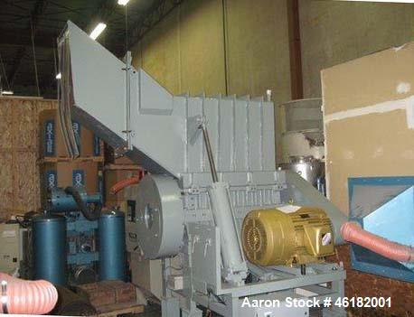 "Used- Rapid Granulator, Model 2442RS. 24"" x 42"" Opening, feed hopper with pneumatic tilt, 20 knife staggered rotor, 3 bed kn..."