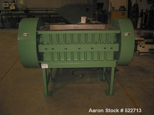 "USED: Rapid model 2242-M style (stronger than an H style) 42"" wide granulator. Five lobe open rotor, 100 hp drive motor, cap..."