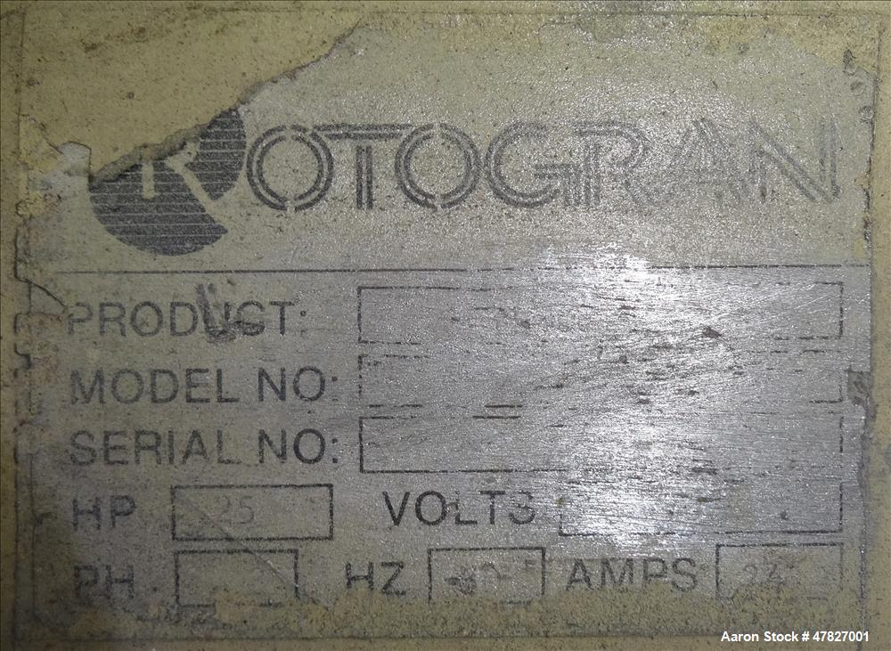 Used- RotoGran Granulator, WO Series