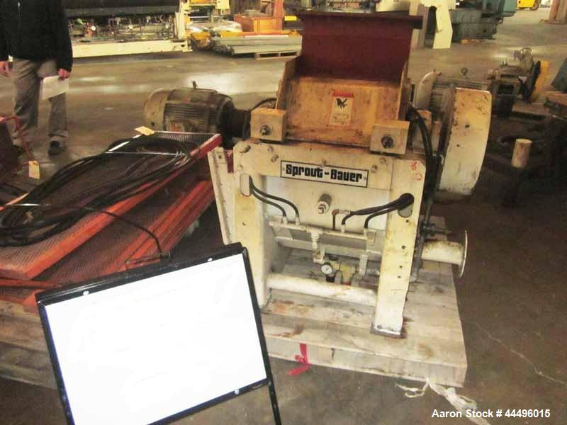 "Used- Sprout Waldron Granulator, 15"" x 18"" feed"