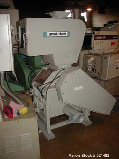 "USED: Sprout Bauer DSF1512 granulator. 12"" x 15"" feed throat, 7 knife open rotor, 2 bed knives, 30 hp 230/460 volt motor, so..."