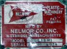 USED: Nelmor granulator, model G10121M1. 3 bolt-on blade closedrotor, 2 bed knives, pelican style feed with a 12