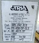 Used- Tria Granulator, Carbon Steel. Approximate 20