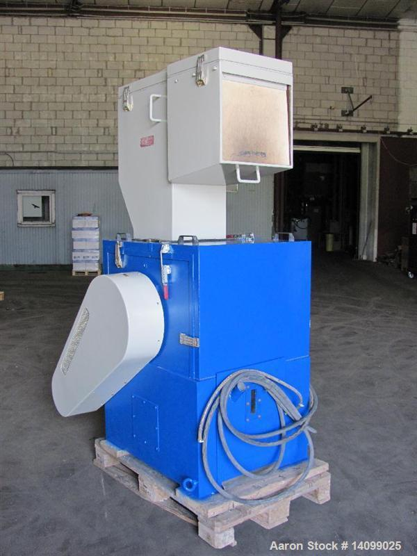 "Used-Tria 300 RR-SL Soundproof Granulator. Opening dimensions 11.8"" x 12.5"" (300 x 320 mm).  (3) Rotor knives, (2) stator kn..."