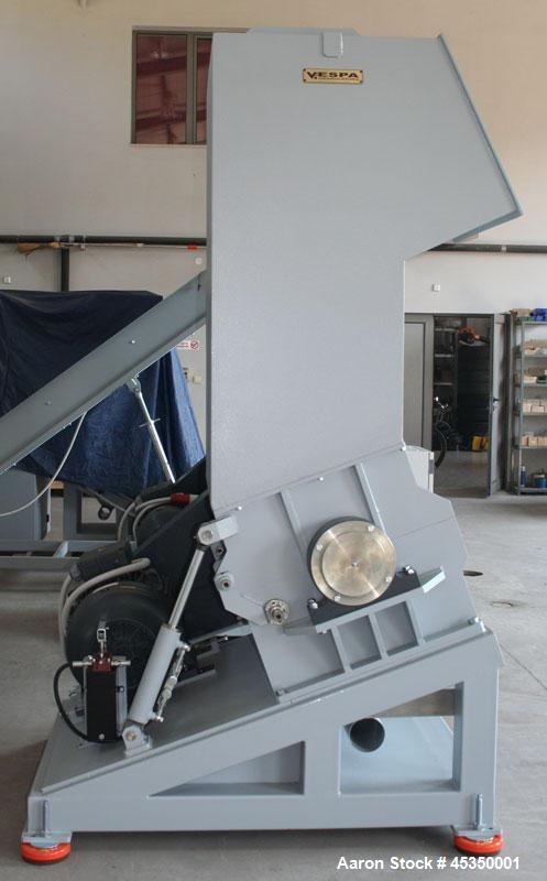 Used- VESPA Granulator 45/80 VGA with a 7.4 hp (5.5 kW) Material Conveying Blowe