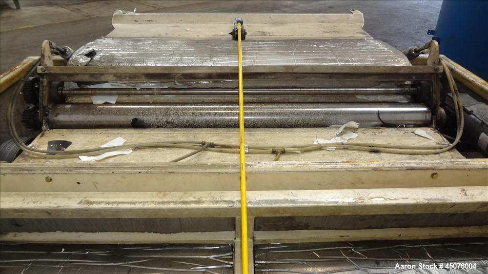 """Used- Wor-Tex Roll Stock Granulator, Model HS-755. Approximate 10"""" wide x 55"""" long feed throat, (4) 30"""" wide off set bolt on..."""