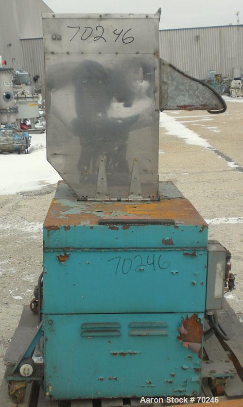 "Used- Wortex Granulator, Model JC 10, Carbon Steel. Approximate 7"" diameter x 15"" wide involute parabolic segmented helical ..."