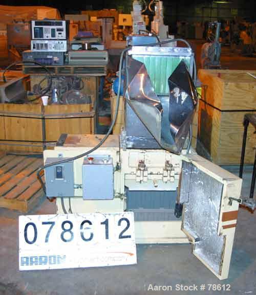 "Used- Wortex Granulator, Model JC10. 6"" diameter x 15"" wide involute parabolic segmented helical type rotor with 3 rows of 9..."